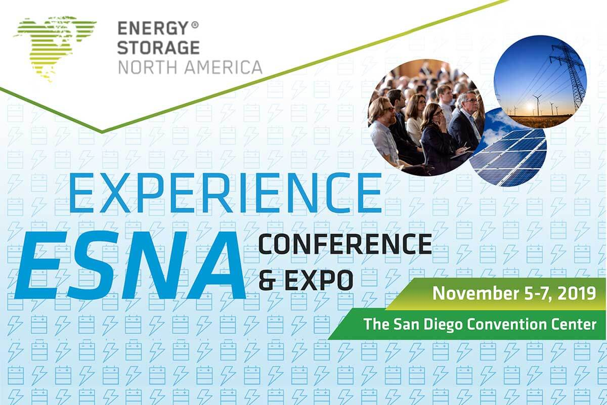 Meet us in Energy Storage North America 2019