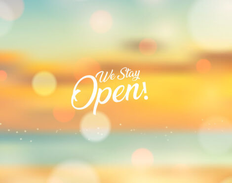 We are Open all summer! Check the opening time.